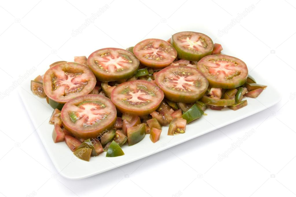 Tomatoes of the variety raf cultivated of sustainable and ecological form — Stockfoto #14698573