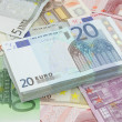 Wad of twenty euros bills — Stock Photo