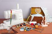 Máquina de costura — Fotografia Stock
