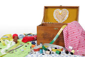 Sewing box — Stock Photo