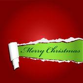 Rode gescheurd papier met uw kerst tekst — Stockfoto