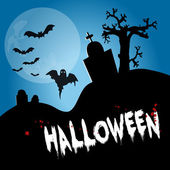 Halloween baner — Stock Photo