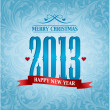 2013, new year background — Stock Photo