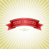 рождественская открытка с красной лентой — Стоковое фото