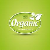 Organic button — Stock Photo