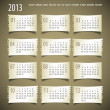 2013 year vector calendar — Stock Photo