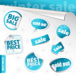 Stock Photo: Set of winter sale elements (vector)