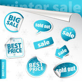 Set of winter sale elements (vector) — Stock Photo