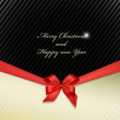 Greeting cards with ribbon — Stock Photo