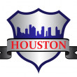 Houston crest - Stock Vector