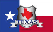 Texas crest — Stock Vector