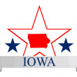 Iowa, star - Stock Vector