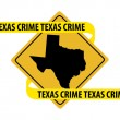 Texas crime — Stock Vector