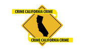 California crime — Stock Vector