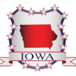 Iowa crest — Vettoriali Stock