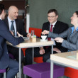 Business team having fun on coffee break — Stock Photo