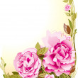 Flowers card - Stockvectorbeeld