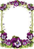 Frame of flowers — Stock Vector
