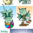 Little dragon — Stockvector #24980753