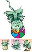 Kleine draak — Stockvector
