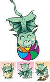 Pequeño dragón — Vector de stock