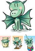 Petit dragon — Vecteur