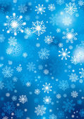 Fondo de copos de nieve — Vector de stock
