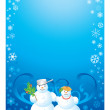 Frame snowman — Stock Photo #6721271