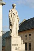 Andrej Kmet statue in Banska Stiavnica — Stock Photo