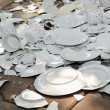 Stock Photo: Broken plates