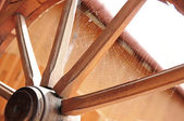 Wagon wheel detail — Stockfoto