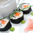 Sushi with vegetables and seaweed — Stock Photo #18419053