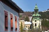 Viejo castillo en banska stiavnica, eslovaquia — Foto de Stock