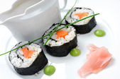 Sushi with vegetables and seaweed — Stock Photo