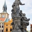 Prague Charles bridge Saint Ivo statue by M.B. Braun — Stockfoto