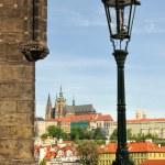 View of Prague castle and Charles Bridge — Stock Photo