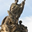 Saint Francies Xavier statue, Charles bridge — Stock Photo