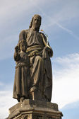 Statue St. Joseph on Charles bridge, Prague — Stock Photo