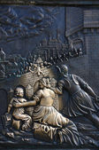 Detail from martyrium of st. john from charles bridge — Stock Photo