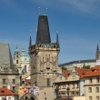 Charles bridge in Prague, Czech republic - Stock Photo