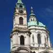 Baroque Saint Nicolas church, Prague, Czech Republic - Stock Photo