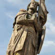 Statue St. Wenceslas on Charles bridge in Prague - Stock Photo