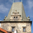 Detail Old Town tower in Prague - Stock Photo