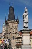 Saint Philip statue on Charles' Bridge in Prague — Stock Photo