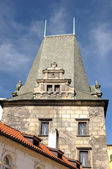 Detail Old Town tower in Prague — Stock Photo