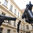 Stock Photo: Exhibition oversized guns in Prague
