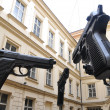 Exhibition oversized guns in Prague — Stock Photo #19802557