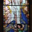 Stock Photo: Risen Jesus on stained glass window