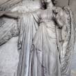 Angel statue at cemetery Vysehrad in Prague — Photo