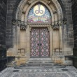 Entrance door of St. Peter and Paul church on Vysehrad in Prague — Stock Photo